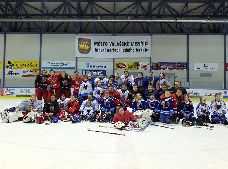 Malé hráčky Valašského Meziříčí trénovaly s reprezentací žen do 18 let